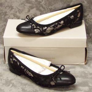 Marc Fisher Lace Jodi Ballet Flats -8 Black